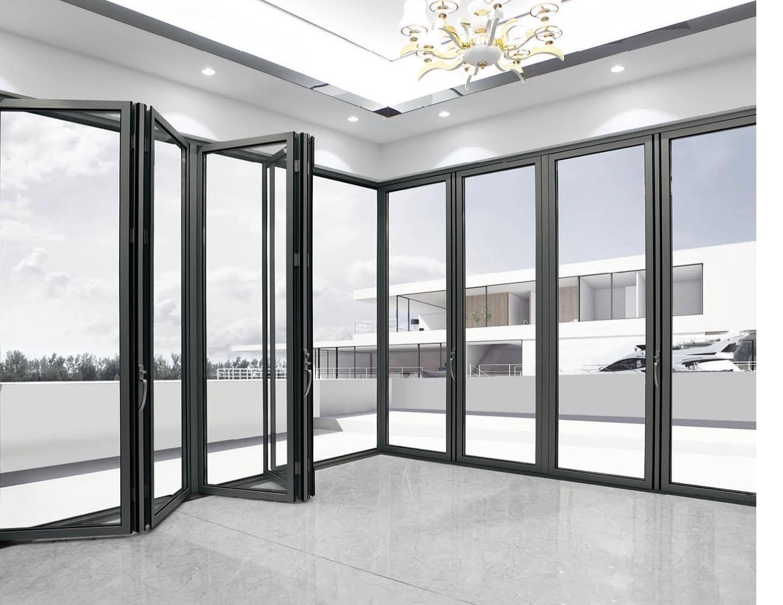 pintu lipat aluminium kaca – harga murah
