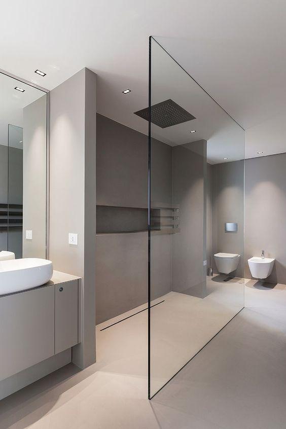 partisi kaca framless kamar mandi