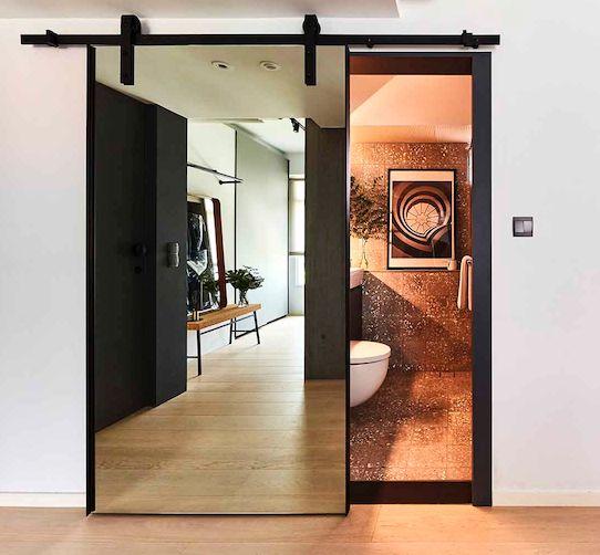 pintu kaca kamar mandi seleding